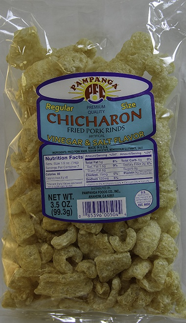 Chicharon with Vinegar and Salt Flavor - 3.5 oz
