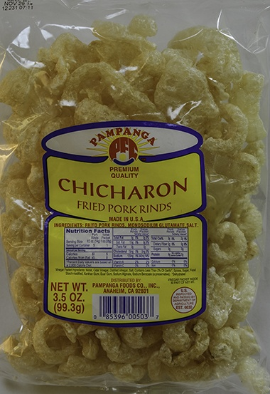 Chicharon with Vinegar Packet - 3.5oz